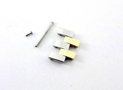 New Small Cartier Santos Demoiselle 18K Gold & Steel Bracelet link 12mm