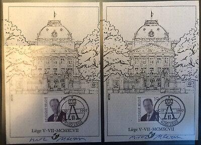 Belgique België, 1997, 2 Souvenirs Philatélique, Roi Albert II, Neufs, Très Bien