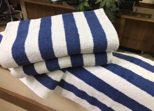 4 Pack New Large Beach, Resort Pool Towels in Cabana Stripe