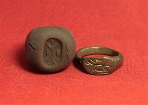 Ancient Roman Legionary Seal Ring, Finger Ring, 3. Century