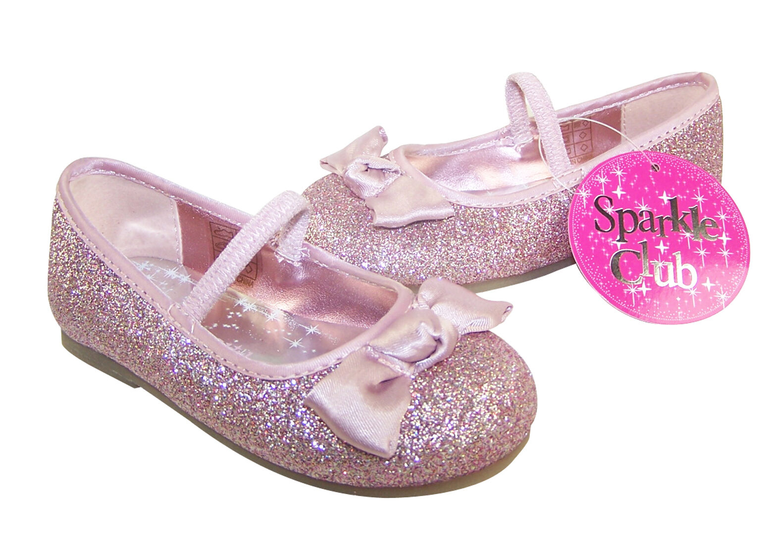 pink new glitter shoes infants size