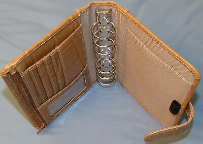 Wilsons 6-ring 1 Compact Gator Leather Planner Personal Small Binder Franklin