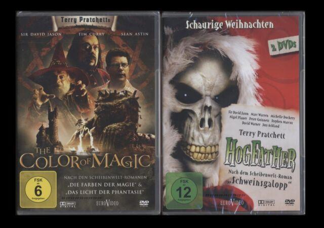 DVD THE COLOR OF MAGIC + HOGFATHER SCHWEINSGALOPP - TERRY PRACHETT 3 DISC SET **