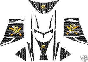 BLACK-HONEYCOMB-SLED-WRAP-for-SKI-DOO-rev-mxz-2003-07-decal
