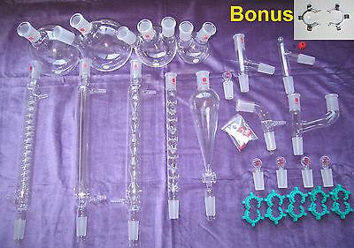 Kemtech America Advanced Organic Chemistry Lab Glassware Kit 24 40  30