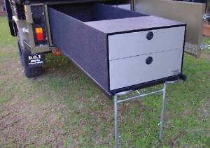 CUSTOM DRIFTA STORAGE BOX WITH FRONT DRAWS: DSB/FD  DAMAGED FRONT