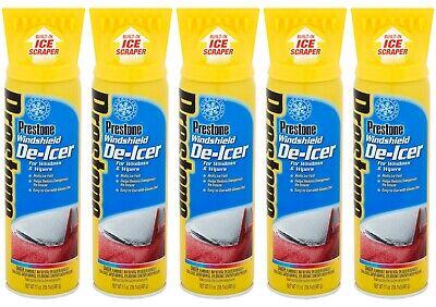 5 X Prestone Windshield De-Icer Spray