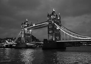 tower bridge londres art mural poster paysage imprimer carte ou toile ebay. Black Bedroom Furniture Sets. Home Design Ideas