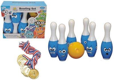 ⚾ Bowling Party Set ⚾ 6 PINS + Bowlingkugel + 8 Medaillen ⚾ Kegelspiel  Kinder Bowling Set