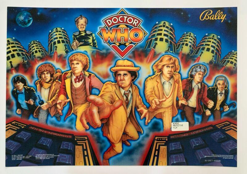 "1992 Bally Pinball ""Dr. Who"" Translite"