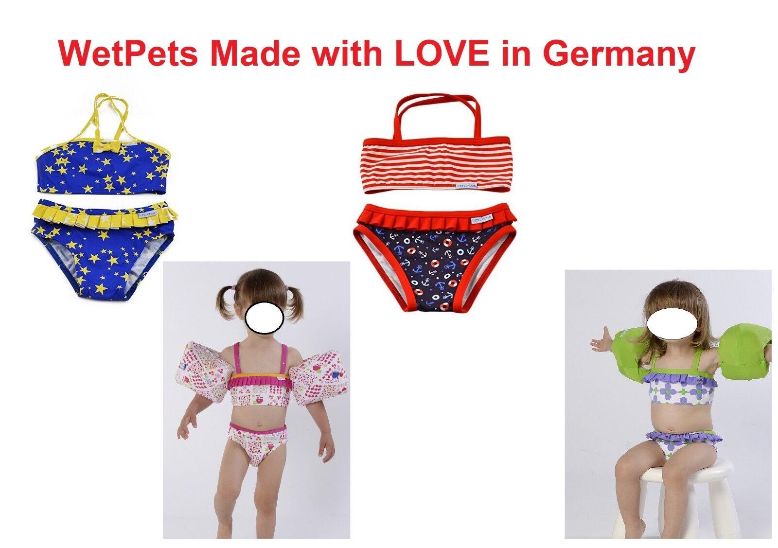 WetPets Bikini Mädchen Kinder Badeanzug NEU Gr  62-68,74-80,86-92,98-104,110-116