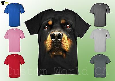 Rottweiler Dog T shirt - Big in your Face Rottweiler Tee - Licensed (Big Dog T-shirt Tee)