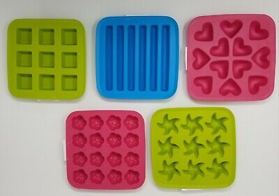 Pink Ice Cubes (NEW IKEA PLASTIS Plastic Ice Cube Trays, Pink, Blue, Green US)