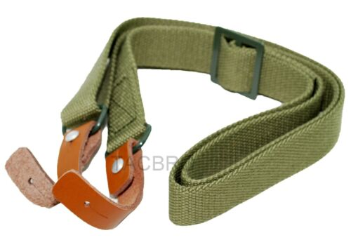 Green Model 47 SKS Two Point Sling with Leather Strip