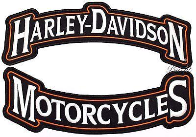 "HARLEY DAVIDSON ROCKERS Back PATCH Motorcycle Biker Jacket Vest IRON ON 12"""