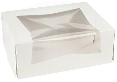 Bakery Box 9 X 7 X 3.5 Kraft Paperboard Auto-popup Window Pack Of 15