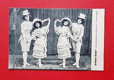 AK ZIRKUS Variete 1917 Typen Dresdner Kinder Kostüme Biedermeier   ( 37366