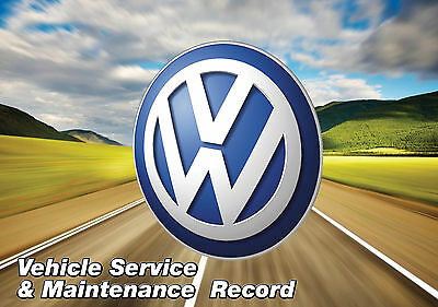 BLANK SERVICE HISTORY BOOK FOR VOLKSWAGEN POLO GOLF PASSAT LUPO BEETLE