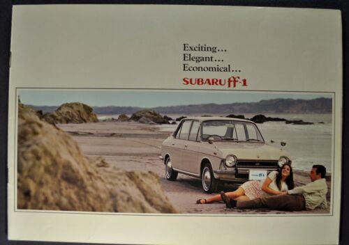 1971 Subaru FF-1 Catalog Sales Brochure Sedan Wagon Excellent Original 71