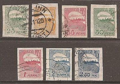 1920-24 Estonia Definitive Selection Used