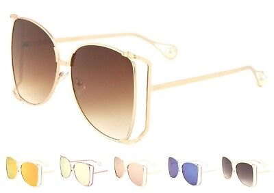 Wholesale 12 Pair Large VINTAGE Butterfly Style Metal Frame Sunglasses -Assorted