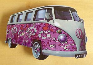VW-Camper-Van-Fridge-Magnet-VW-Split-Screen-Flower-Power-VW-Van-Fridge-Magnet