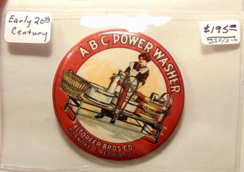 Vintage ABC Early Washing Machine Advertisment - Pocket Mirror - Excellent Shape