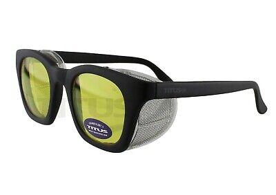 Titus G12 Retro Safety Glasses W Side Shields Z87 Ansi Dot Motorcycle Shooting