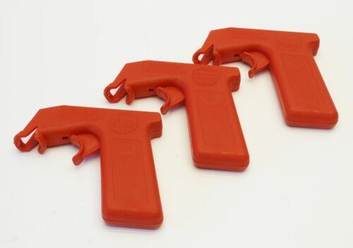 3-Pack Snap-On Spray Gun Trigger Handles Red for Aerosol Spr