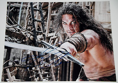 Jason Momoa Signed 11X14 Photo Conan The Barbarian With Sword  New Aquaman W Coa