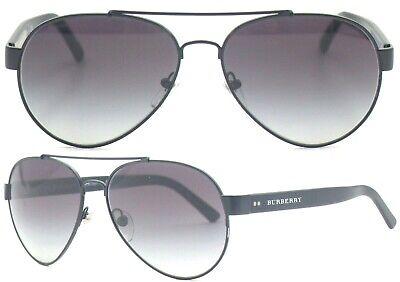 Burberry Damen Herren Sonnenbrille BE3086 1007/S6 59mm schwarz Aussteller 356 13