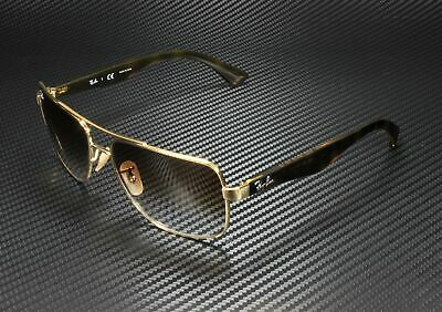 RAY BAN RB3483 001 51 Square Metal Gold Brown Gradient 60 mm Men's Sunglasses