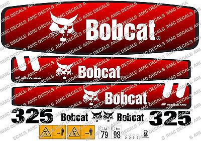 Bobcat 325 Mini Digger Decal Set