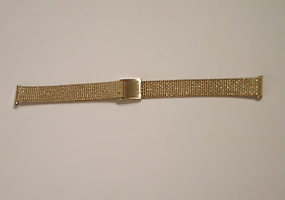 Gold or Stainless Steel Watch Mesh Band/Strap Bracelet.Width 12mm.