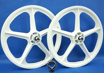 """Skyway Tuff II wheel set 20/""""  With 9-tooth driver cassette Black"""