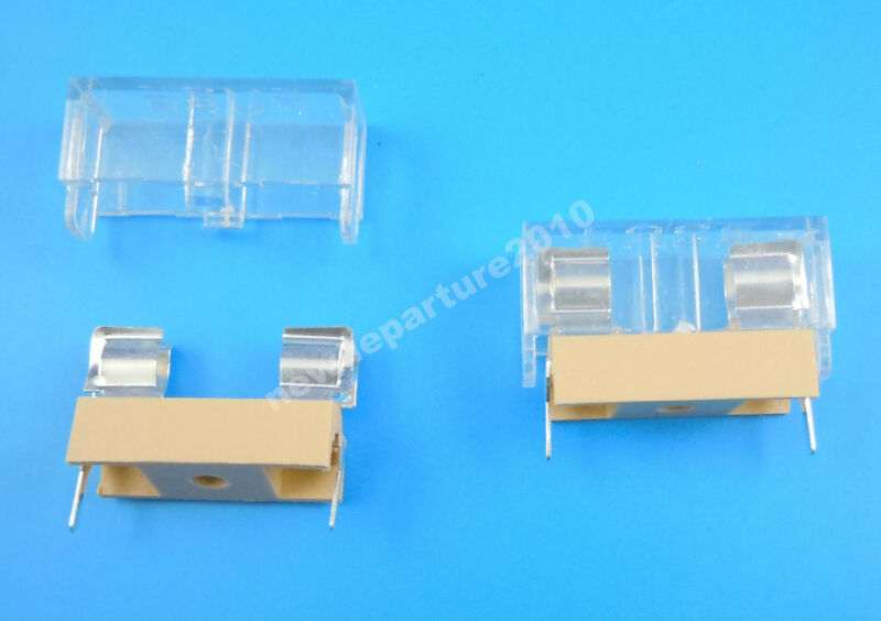 10pcs New Panel Mount Pcb Fuse Holder Case With Cover For 5x20mm Fuse
