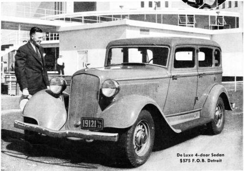 Vintage Print Ad ~ PLYMOUTH SIX~  1933