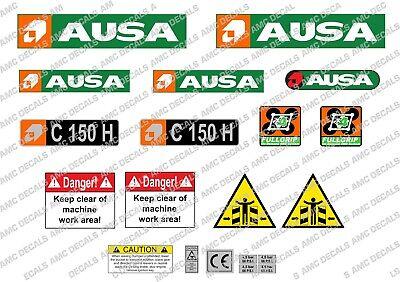 Ausa C 150 H 4x4 Forklift Decals Sticker Set