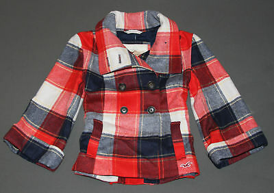 NWT HOLLISTER by Abercrombie Womens Wool Plaid Swing Coat Jacket S,M,L $140