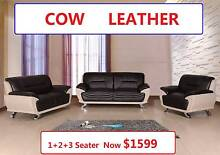 ECHO brand new 1+2+3 Cow Leather Lounge, Was $2899, Now $1599 Salisbury Brisbane South West Preview