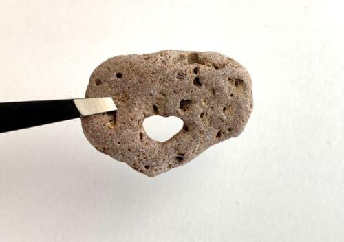 💕Naturally Heart-Shaped Hole Beach Rock Hag Stone Love Amulet Fairy Valentine💕