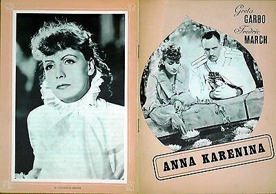 ANNA KARENINA 1935 Greta Garbo, Fredric March DANISH BROCHURE