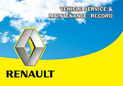 SUITABLE REPLACEMENT FOR ALL RENAULT SERVICE HISTORY BOOK BLANK & UNSTAMPED