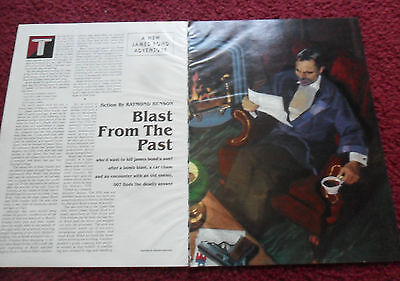 1997 Magazine Short Story 'James Bond Blast' Raymond Benson Gregory Manchess ART
