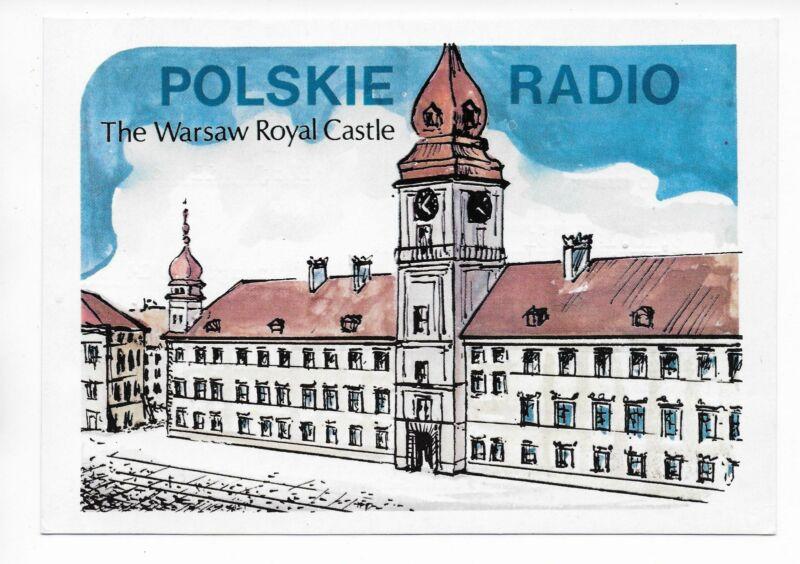 QSL Radio Poland Warsaw Polskie 1981 Warszawa Royal Castle 7285 kcs  DX SWL