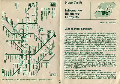 BVG Information für unsere Fahrgäste (Ausgabe Mai 1982)