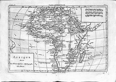 Antique maps, Afrique dressee par M Bonne
