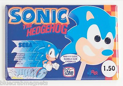 Sonic the Hedgehog Ice Cream FRIDGE MAGNET (2.5 x 3.5 inches) video game sign
