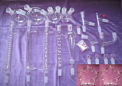 Kemtech America Advanced Organic Chemistry Lab Glassware Kit 2440 Metal Clips