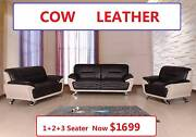 ECHO brand new 1+2+3 Cow Leather Lounge, Was $2899, Now $1699 Salisbury Brisbane South West Preview